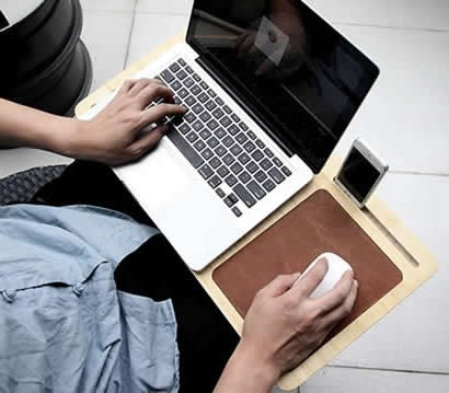 Wooden  Macbook  Mobile Lap Desk