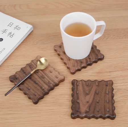 Wood Cookies Shaped Coaster