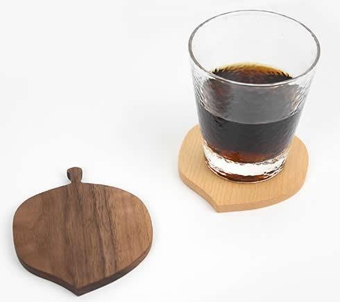 Wood Leaf & Square Shaped Coaster
