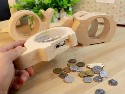 Wood  Animal  Piggy Bank