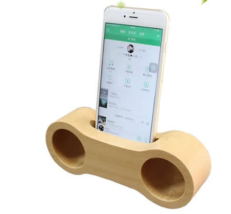 fe46facb98b566 Wooden Bamboo Phone Dock Stand Holder Cell Phone Sound Amplifier for  SmartPhone