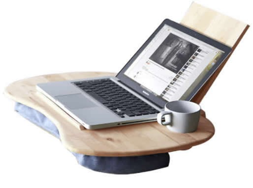 Portable Wooden& Cushioned Macbook Mobile Lap Desk