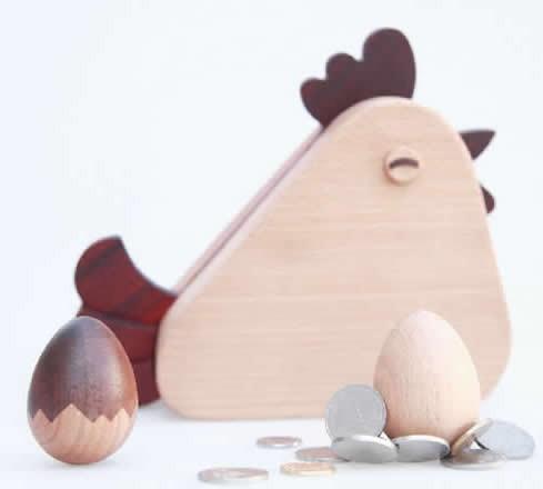 Wooden Roly-poly Magnetic Egg Paper Clip Holder Push Pin Holder  Dispenser Holder