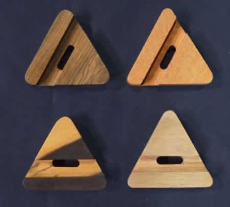 Wooden Mixed Shape Desktop Cell Phone Holder
