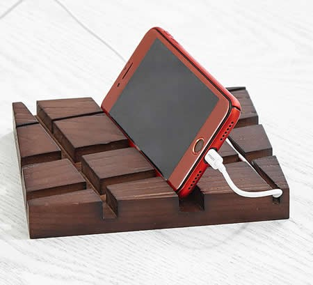 Wooden Desk Stationery Organizer  Pen/Pencil,Cell phone, Business Name Cards Holder