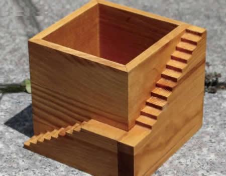 Wooden Architectural  Succulent Planter / Plant Pot / Flower Pot / Bonsai Pot