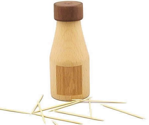Wooden ToothPick Holder,Set of 2