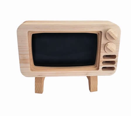 Wooden TV Shape Mobile Phone Cellphone Holder For iPhone 8/8 Plus/7/7 Plus/6/6 Plus/6S/6S Plus