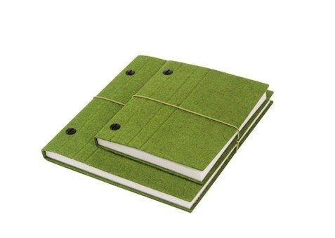 Wool Felt  Bound Blank Pages Notebook