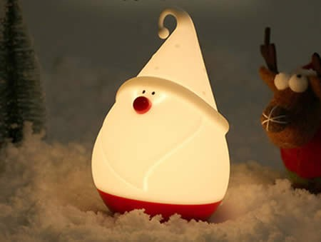 Cute Christmas Snowman Night Light Silicone Pat Light