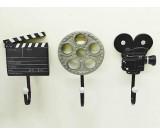 3Pcs Film Action Scene Art Coat Hook Wall Hangers
