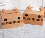 Fun big mouth monster wooden tissue box home decorative idea
