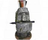 Retro stone man pen holder office learn organizer holder