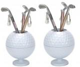 Creative golf desktop learning and organizing pen holder golf cue pen