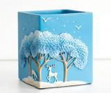 Exquisite blue dream jungle deer office organize pen holder