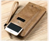 Classic leather handbag fashion mobile phone bag Large capacity cowhide wallet