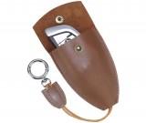 Vintage hanmade leather car key case