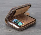 Vintage handmade premium cowhide leather wallet