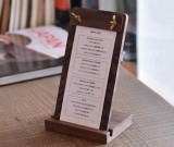 Classic Black Walnut Wooden Writing Board Menu Display Board File Holder Clipboard