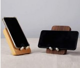Classic Wood Brass Combined With Mobile Phone Holder Black Walnut Wood Ipad Stand