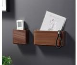 Creative Black Walnut Wooden Wall Storage Box Key Phone Organize Storage