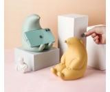 Cute Cartoon Groundhog Ceramic Phone Holder With Piggy Bank Function Nice Gift