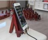 Adjustable Handmade Wooden Desktop Cellphone Tablet Stand Holder for Cellphones, iPhone