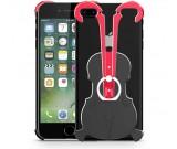 Aluminum Violin Bumper Frame Case With Ring Grip Stand for iPhone 8/8 Plus/7/7 Plus/6/6 Plus/6S/6S Plus