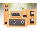 Bamboo Wooden Auto Flip Clock