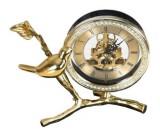 Bird Brass Desk Clock