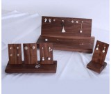 Black walnut Jewelry  Earrings Holder Earring Display Stand Jewelry Display shelf Show Case Organizer Tray