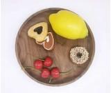 Black Walnut Round Tray Food & Fruit Plate