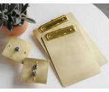 Brass Document/Data/Paper File Holder Clipboard Folder Clip Organizer