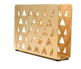 Brass Tissue Napkin Holder Stand Rack Vertical Box Caddy