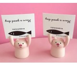 2pcs Ceramic Animal Memo Holder Card Paper Photo Note Clip Wedding Place Name Card Holder