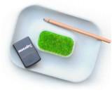 Concrete Tray Desk Stationery Sundries Gadget Organizer Storage Box Pen Pencil Holder Container
