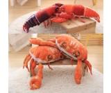 Crab Lobster Throw Pillow Back Cushion Pillow Plush Doll