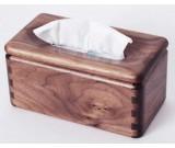 Black Walnut Wood Square Tissue Box Cover Holder