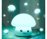 Cute Mushroom USB Rechargeable Children Night Light