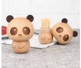 Cute Wooden Panda&Ice cream Toothpick Holder