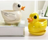 Duck Ceramic Succulent Planter Flower Pot