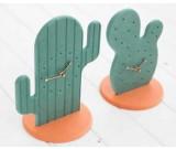 Fashion Cactus Noiseless Desk Clock