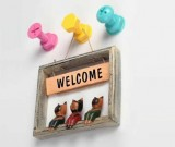 Funny 3-Color Self Adhesive Decorative Wall hooks