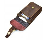 Genuine  Leather Vertical  Case Cover With Belt Clip Holster