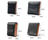 Handmade Genuine Leather&Wooden Business Name Card Holder Wallet Credit card ID Case / Holder