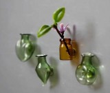 Glass Vase Fridge Magnets, Set of 6