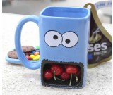 Hand Painted  Monster Cookie Holder Coffee Mug