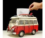Handmade Antique Model Kit Car-Volkswagen Microbus Tissue Box