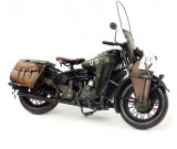 "Handmade Antique Model Kit Motorcycle- 1942 Harley-Davidson ""WLA"" Military Motorcycle"