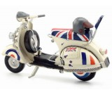 Handmade Antique Model Kit Motorcycle-1968  VESPA Motor Scooter